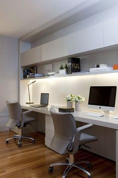 Beautiful and subtle ideas for home office design - Best Architects & Interior Des - . - Beautiful and subtle ideas for home office design – Best Architects & Interior Des - Home Office Setup, Home Office Space, Home Office Furniture, Furniture Design, Office Ideas, Men Office, Small Office, Furniture Ideas, Office Workspace