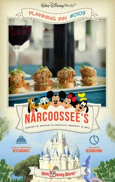 Walt Disney World Planning Pins: Slip away to this elegant waterfront retreat for exquisite seafood specialties and spectacular views of Seven Seas Lagoon.