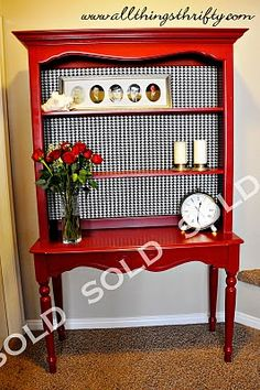 All Things Thrifty Home Accessories and Decor: Hutch For Sale UPDATE...SOLD