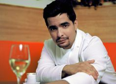 Aarón Sanchez Most people will recognize Aarón Sanchez as the tattooed chef from the Food Network, but he's more than just a TV personality. Aaron began cooking at a young age helping his mother with her catering business (Sanchez's mother is Zarela Martinez). After mentoring under chef Paul