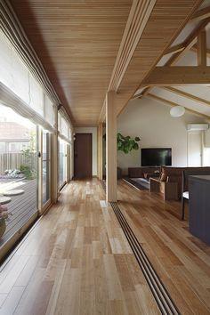 物件詳細 | 実例ギャラリー| 戸建住宅 | 積水ハウス Modern Japanese Interior, Japanese Modern House, 80s Interior Design, Exterior Design, Architect House, Architect Design, House Architecture Styles, Long House, Minimal Home