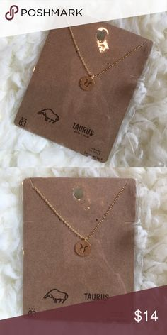 Taurus symbol necklace Gold Taurus symbol mini pendant necklace. New in packaging. 16.5 inch non-adjustable chain. Jewelry Necklaces