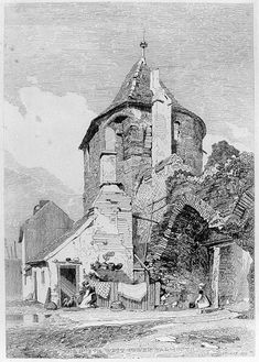 1818 The North West Tower, Yarmouth etching 48 x 34 cm by John Sell Cotman Tree Drawings Pencil, Pencil Art, Art Drawings, Landscape Drawings, Architecture Drawings, Light Painting, Painting & Drawing, Cityscape Drawing, Building Sketch
