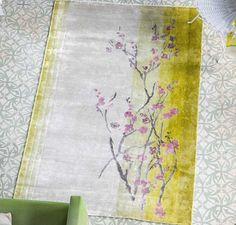 Designers Guild - Willow Blossom Lemon Rugs   Modern Rugs