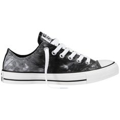 Converse Chuck Taylor All Star Tie Dye Low Trainers, Black / White found on Polyvore