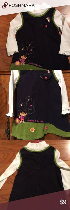 DORA !! Girls dress size 4T by Nick Jr Corduroy and cotton dress looks like a jumper but it's a dress ! size 4T. EUC. Comes from non smoking & pet free home Nick Jr Dresses Casual