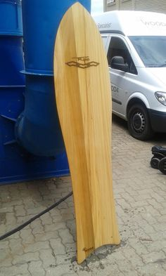 Triplo designed Alaia Surfboard. Obeche Wood.