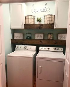 30 Small Laundry Room Decoration Ideas For You - Page 25 of 30 - Chic Hostess Small laundry room organization Laundry closet ideas Laundry room storage Stackable washer dryer laundry room Small laundry room makeover A Budget Sink Load Clothes Laundry Closet Makeover, Laundry Room Remodel, Laundry Room Organization, Laundry Room Shelving, Small Laundry Closet, Laundry Room Ideas Garage, Laundry Room With Cabinets, Laundry Room Makeovers, Organization Ideas