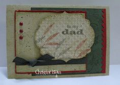 "By Christine Blain. Used stamps from Stampin' Up's ""Lovely as a Tree"" & ""Autumn Days."" Love the layout."