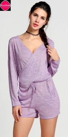 Woman's New Boho Style Casual Purple Mini Romper Get Additional 10%Off your first order at www.pescimoda.com Shipping all over United States. #WomensFashion #FashionForTeens #Outfits #OutfitsForTeens #SummerFashion #Fashion2016 #ChicFashion #EverydayOutfits #HippieStyle #StreetStyle #SexyGirls #HolidayOutfits #Rompers #RompersWomen #RompersOutfits #RompersForTeens #JumpsuitsAndRompers #Jumpsuits #JumpsuitsForWomen #JumpsuitsOutfits #ShortJumpsuits #Casual #Purple #FullSleeve