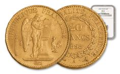 Angel Coins /  1878-1898 France Gold 20 Franc Angel NGC MS63