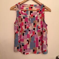 Sleeveless top Cute lightweight blouse. Colorful. Boutique/21 Tops Blouses