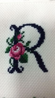 This Pin was discovered by Ftm Embroidery Jewelry, Ribbon Embroidery, Cross Stitch Embroidery, Cross Stitch Quotes, Cross Stitch Rose, Cross Stitch Designs, Cross Stitch Patterns, Stitch Cartoon, Palestinian Embroidery