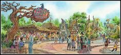 Hogsmeade, The Wizarding World of Harry Potter, Islands of Adventure, Universal Orlando (early concept)