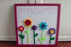 Spring Flowers Felt Board Set tutorial