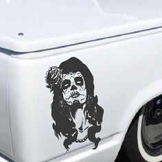 Day Of The Dead Girl Decal - sticker wall art dia de los muertos sugar skull car graphics room decor emo goth gothic metal AA58.22 on Etsy, $17.00