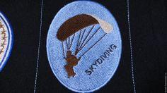 Купить Нашивка патч Парашютный спорт эмблема Skydiving Подарок мужчине - подарок мужчине
