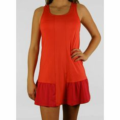Wilson Solana Ruffle Dress-Coral