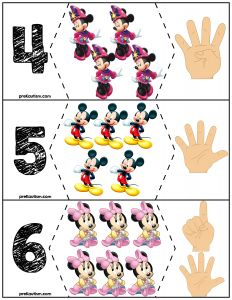 Preschool puzzles for number skills. Disney Activities, Creative Activities For Kids, Preschool Learning Activities, Kids Learning, Mickey Mouse Classroom, Disney Classroom, Preschool Puzzles, Preschool Crafts, Disney Lessons