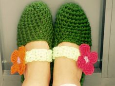 Pantuflas #crochet.
