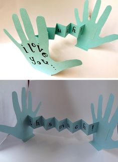 I Love You...This Much, Card | Click Pic for 18 DIY Fathers Day Crafts for Kids to Make | Homemade Fathers Day Crafts for Toddlers to Make