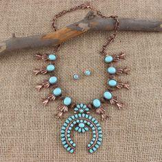 Idly+Wild+Copper+Squash+Blossom+Jewelry+Set