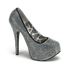 """One of our Best Sellers, and it's obvious why!! Our Rhinestoned Pump  features 5 3/4"""" Heel with a 1 3/4"""" Concealed Platform, this gorgeous pair of shoes are covered with a abundance of Rhinestones <3"""