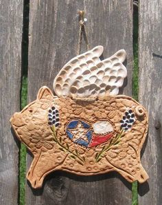 When Pigs Fly Texas Flying Pig by TexasAngelGifts on Etsy, $18.00