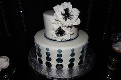 Black and White Party Cake #blackwhite #cake