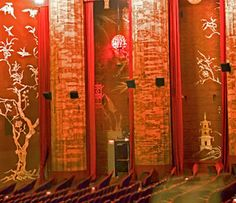 Gold and red paintings and wall details at Grauman's Chinese Theater - ©2011 Betsy Malloy Photography. Used by Permission.