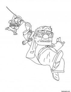 Printable Disney Up Carl FredricksenRussell Coloring Pages