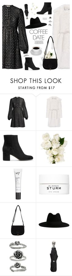 """Coffee Date"" by mylkbar ❤ liked on Polyvore featuring Yves Saint Laurent, Shrimps, Gianvito Rossi, Rebecca White, Dr. Barbara Sturm, Avril Gau, Alexander McQueen and CoffeeDate"