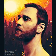 Michael Fassbender - digital painting study. .  .  .  .  .  .  #study #photoshop #art #artstagram #artwork #digitalart #painting #creative #instaart #instagood #man #face #beard #actor #forest #warm #colors #illustration #portrait #instamood #polishboy #artist #realistic #coloring #latest #arts