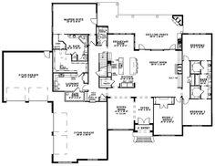 ****First Floor image of Cobblestone Drive House Plan Love this! The jack and Jill bathroom with walk in closets are great as well as plenty of garage space!