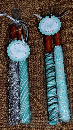 Sweets Like Sugar: Breakfast at Tiffanys Cute party favors to replace the traditional coated almonds.
