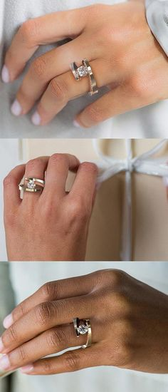 Tension Engagement R  Tension Engagement Rings Ideas / Inspiration for Men & Women which is Awesome & Unique made in White, Rose & Yellow gold comes in Channel Sets, Princess Cut, Halo, Oval, Round, Pear, Three Stone, Cushion Cut, Solitaire Shape with Gem stones like Emerald, Blue Sapphire, White Diamonds / Diamond, Swarovski, Purple, Red, Yellow Crystals are modern yet Vintage Wedding, Anniversary, Brides Band are Simple & Beautiful Jewelry Products which is cheap, inexpensive, affo..