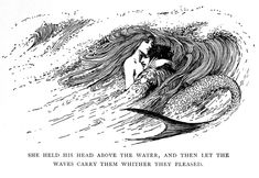 Mermaid History, Siren Mermaid, Edmund Dulac, Booklet Design, Vintage Type, Fantasy Creatures, The Little Mermaid, Fairy Tales, Artwork