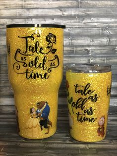 Beauty and the Beast Glitter Tumbler and kids cup! Beauty and the Beast Glitter Tumbler and kids cup! Diy Tumblers, Personalized Tumblers, Custom Tumblers, Glitter Tumblers, Disney Beauty And The Beast, Beauty And The Best, Beauty And The Beast Crafts, Glitter Carnaval, Thermos