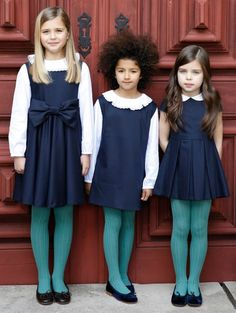 These would be the uniforms if I was the headmistress at Sophie's school.