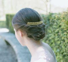 Peigne mariée - peigne mariage - coiffure mariée peigne - chignon peigne