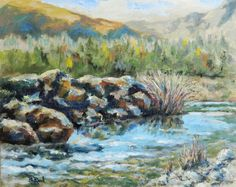 American River original oil painting on Etsy, $140.00