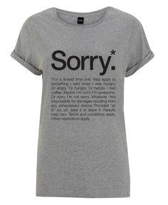 Sorry* (Black) als Frauen T-Shirt von WORDS BRAND™   JUNIQE