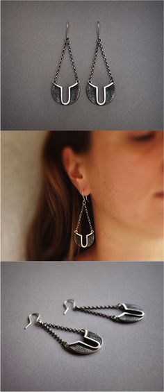 Be art decor fabulous with these gorgeous geometric dangle earrings! | Made on Hatch.co by independent makers & jewelry designers