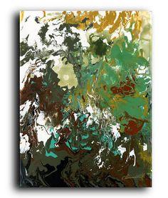 Original Fluid Painting Labyrinth Contemporary Modern Abstract Acrylic on Canvas Elena