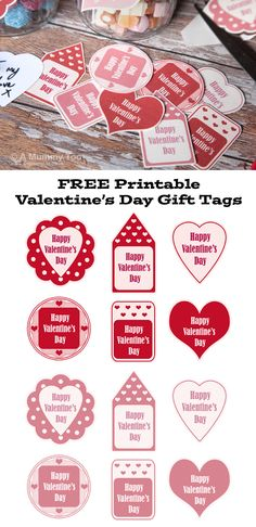Free printable valentines day treat tags gift holidays and free free printable valentines day gift tags in pink and red negle Image collections