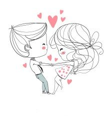 Find Valentines Day Boy Girl Love Cards stock images in HD and millions of other royalty-free stock photos, illustrations and vectors in the Shutterstock collection. Valentines Day Drawing, Valentines Day Couple, Valentine Day Love, Cute Couple Drawings, Love Drawings, Hand Embroidery Patterns, Love Cards, Doodle Art, Cute Art