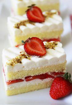 Strawberry Shortcake, Strawberry Sorbet and Strawberry Lollipop
