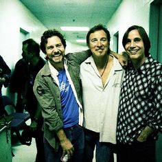 Eddie Vedder, Springsteen, and Jackson Browne.
