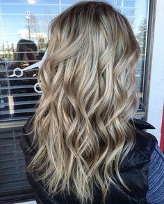 Texture and dimension ash blonde hair
