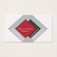#Professional Translator Translations Text Writer Business Card - #office #gifts #giftideas #business